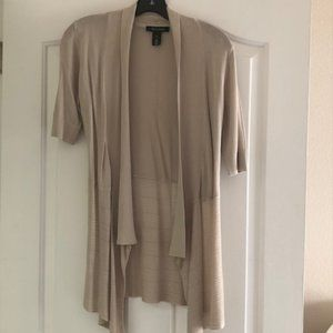 White House Black Market Tan Cardigan - XXS